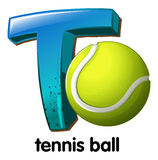A letter T for tennis ball Stock Image