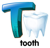 A letter T for tooth Royalty Free Stock Photos