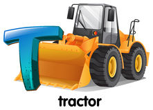 A letter T for tractor Royalty Free Stock Photography