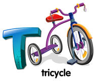A letter T for tricycle Royalty Free Stock Photo