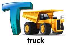 A letter T for truck Royalty Free Stock Photo