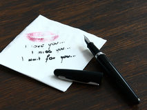 Letter. On the table left by the beloved Stock Photography