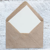 Letter on the table Royalty Free Stock Image