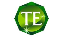 Letter TE Diamond. Logo Design Template Vector Stock Photos