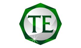 Letter TE Diamond. Logo Design Template Vector Stock Images