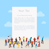 Letter Template Isometric Royalty Free Stock Photography