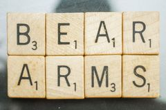 Second Amendment Scrabble Letter Tiles Royalty Free Stock Photography