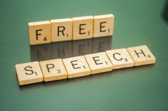 First Amendment Scrabble Letter Tiles Royalty Free Stock Photo