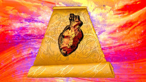 Letter to the Creator - Stone heart - hardened, gravelly, petrified Royalty Free Stock Image