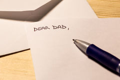 Letter to daddy Royalty Free Stock Images