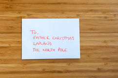 Letter to Father Christmas Royalty Free Stock Images