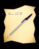 Letter to GOD. Royalty Free Stock Images