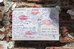 Letter to Juliet Royalty Free Stock Images