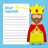 Letter to King Balthazar. Space for text. vector vector illustration