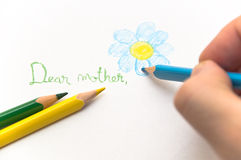 Letter to mother Stock Photography
