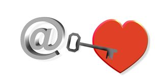 Letter to my heart Royalty Free Stock Photo