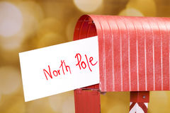 Letter to North Pole. Letter to santa with the address North Pole Stock Photography