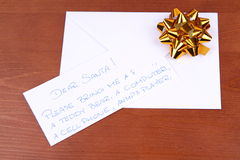 Letter to Santa Stock Image