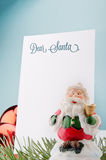 Letter to Santa. With Christmas decorations Royalty Free Stock Image