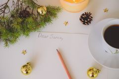 A Letter to Santa. Christmas decoration, writing an letter to Santa Claus stock illustration