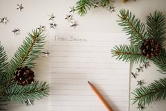 A Letter to Santa. Christmas decoration,writing an letter to Santa Claus vector illustration