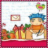 Letter to Santa Claus. Royalty Free Stock Photo