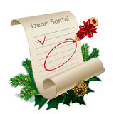 Letter to Santa Claus. With Blank Guidelines. Vector Illustration Stock Images
