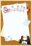 Letter to Santa Claus Royalty Free Stock Photo