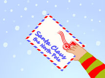 Letter to Santa Claus vector Royalty Free Stock Photos