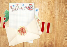 Letter to Santa Claus Stock Image