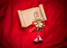 Letter to Santa Claus. Christmas red decorations. Stock Photo