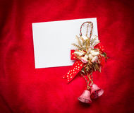 Letter to Santa Claus. Christmas red decorations. Royalty Free Stock Photos