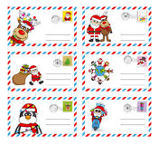 Letter to santa claus. Envelope to send letter to santa claus Stock Photo