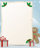 Letter to Santa Claus with gingerbread man Royalty Free Stock Photography