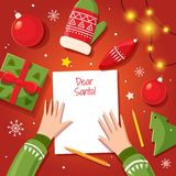 Letter to Santa Claus. Stock Photography