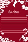 Letter to Santa Clause for Christmas Royalty Free Stock Photography