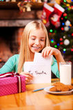Letter to Santa. Royalty Free Stock Photography