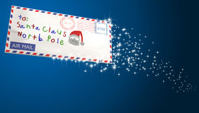 Letter To Santa Sparling Stock Image