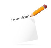 Letter to Santa, vector Stock Image