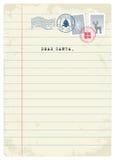 Letter to Santa. Vector Illustration. Letter to Santa Stock Photos