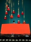 Letter to santa written on typewriter Stock Images
