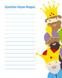 Letter to the three kings of orient Royalty Free Stock Image
