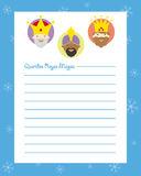 Letter to the three kings of orient Royalty Free Stock Photos