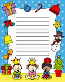 Letter to the Three Kings Stock Image