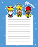 Letter to the Three Kings Royalty Free Stock Images