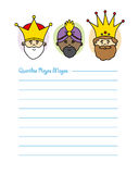 Letter to the Three Kings Stock Images