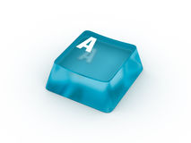 Letter on transparent keyboard button Stock Images