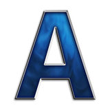 Letter A in tribal blue Stock Photos