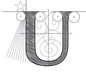 Letter U Stock Image