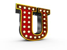 Letter U 3D Broadway Style Royalty Free Stock Photos